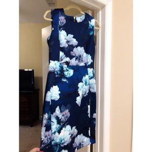 Calvin Klein knee-length floral dress size 12